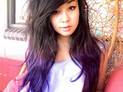 Braune Haare Pastell Lila Farben Modische Lange Frisuren
