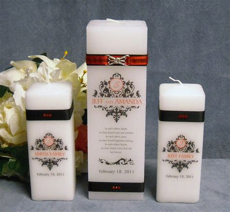 Personalized Square Unity Candle   Wedding Favours Canada