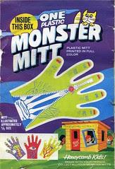 Monster Mitt cereal box back