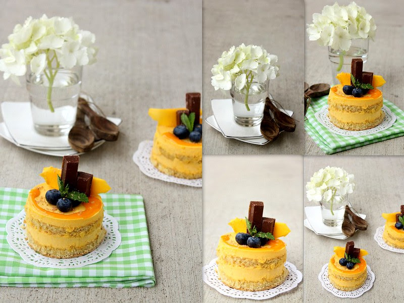 Tropical Mango Pudding Cake