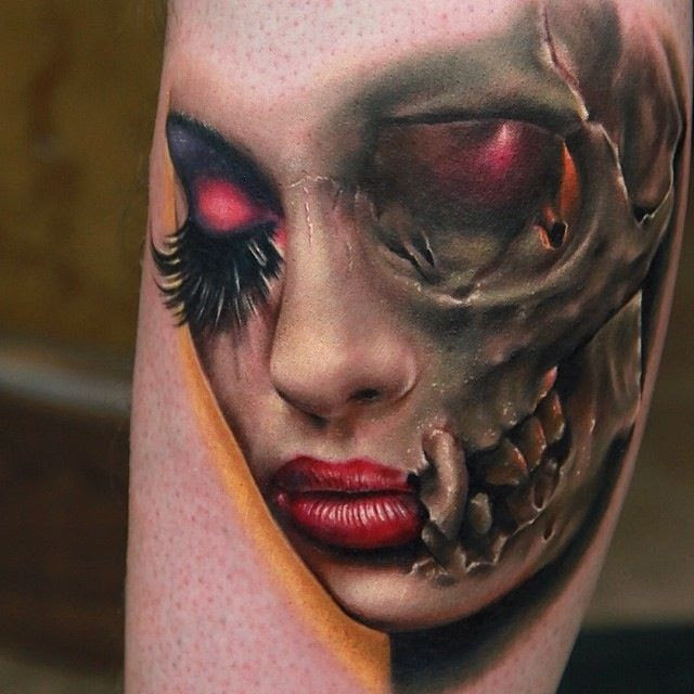 Skull Girl Face Tattoo Tattoomagz