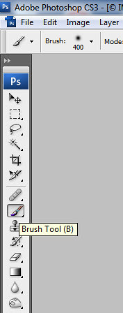 brush tool in manual focus stacking in adobe photoshop