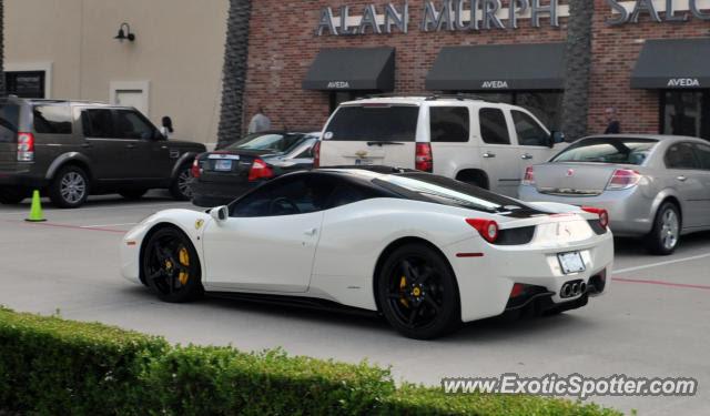 Ferrari 458 Italia spotted in Houston, Texas on 05\/12\/2012