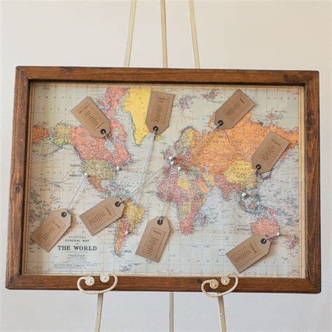 World Map Wedding Table Plan ? The Wedding of My Dreams