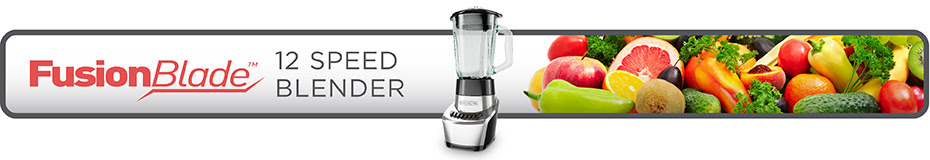 Fusionblade Advanced 12 Speed Silver Blender Black Decker
