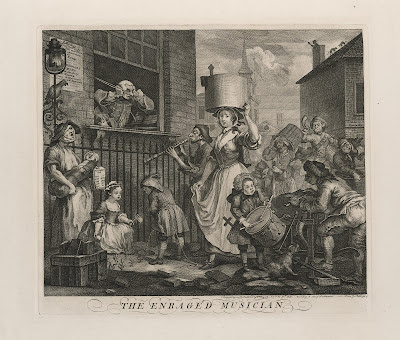 William Hogarth The Enraged Musician, 1741