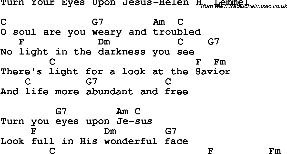 turn your eyes upon jesus chords 2015Confession