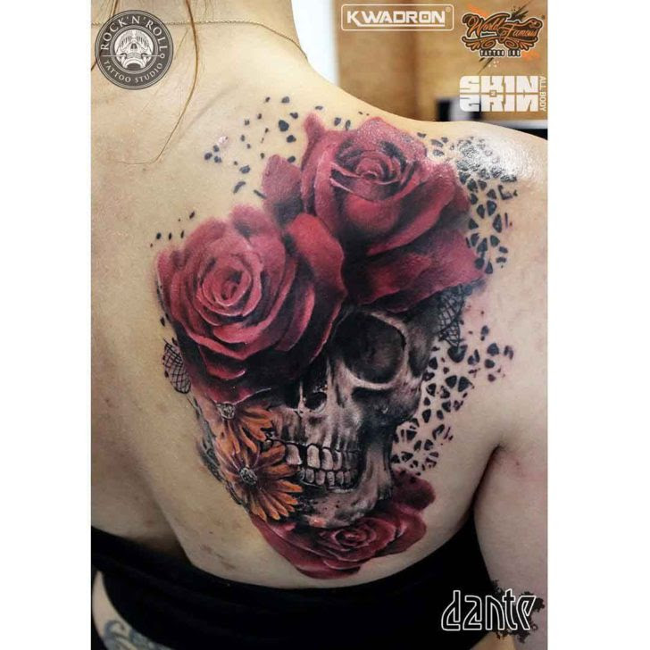 Tattoo Skull Roses Best Tattoo Ideas Gallery