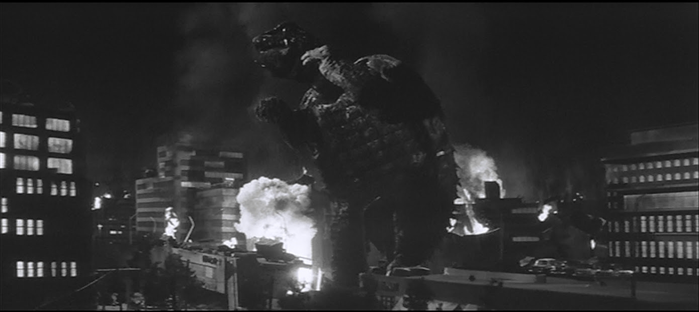 Stomping Tokyo, like all monsters should.