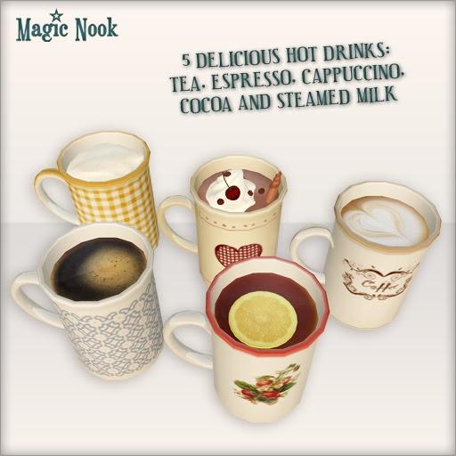 [MAGIC NOOK] Mugs - 5 drinks