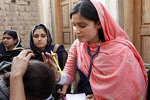 Flickr - DFID - A female doctor with the Inter...