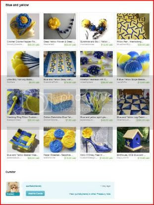 Blue and Yellow Treasury by QuiltsbyKandy