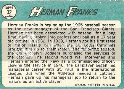 #32 Herman Franks (back)