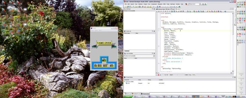 debug layout