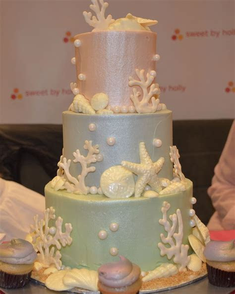 3 tier Beach themed Pastel Cake! #sweetbyholly #