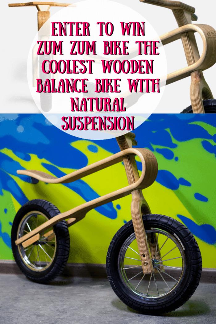 Enter To Win Zum Zum Bike The Coolest Wooden Balance Bike with Natural Suspension