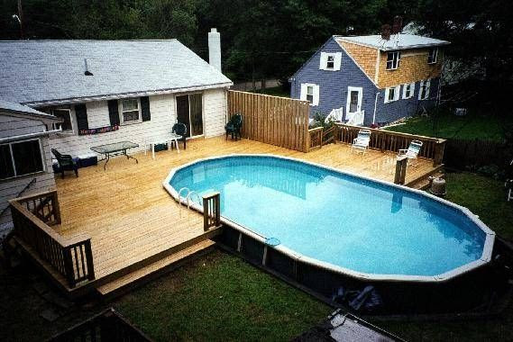 Above Ground Oval Pool Deck Designs | Outdoor Oasis ...