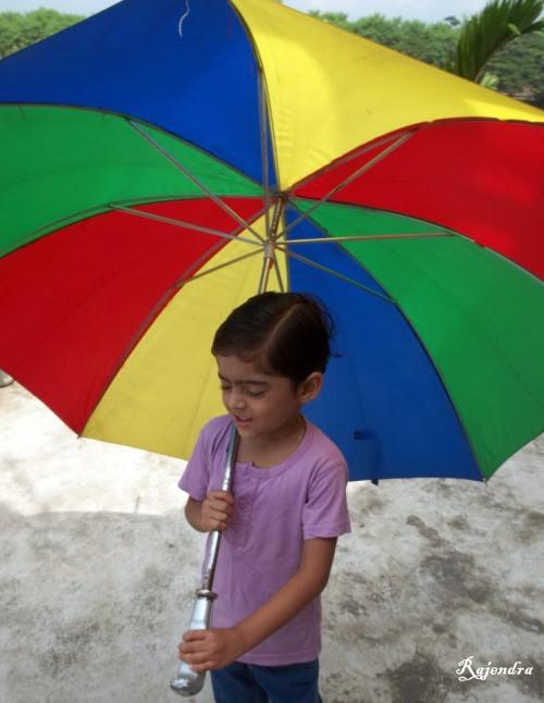 Pranitaa with umbrella