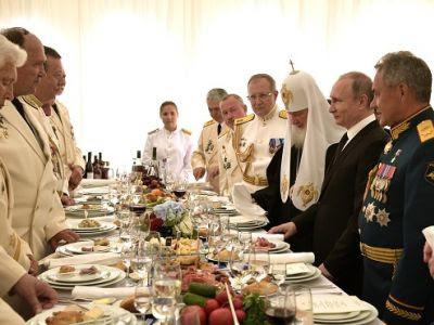 Прием в честь дня ВМФ. Фото: kremlin.ru