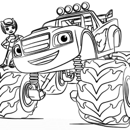 Blaze Coloring Pages at GetDrawings   Free download