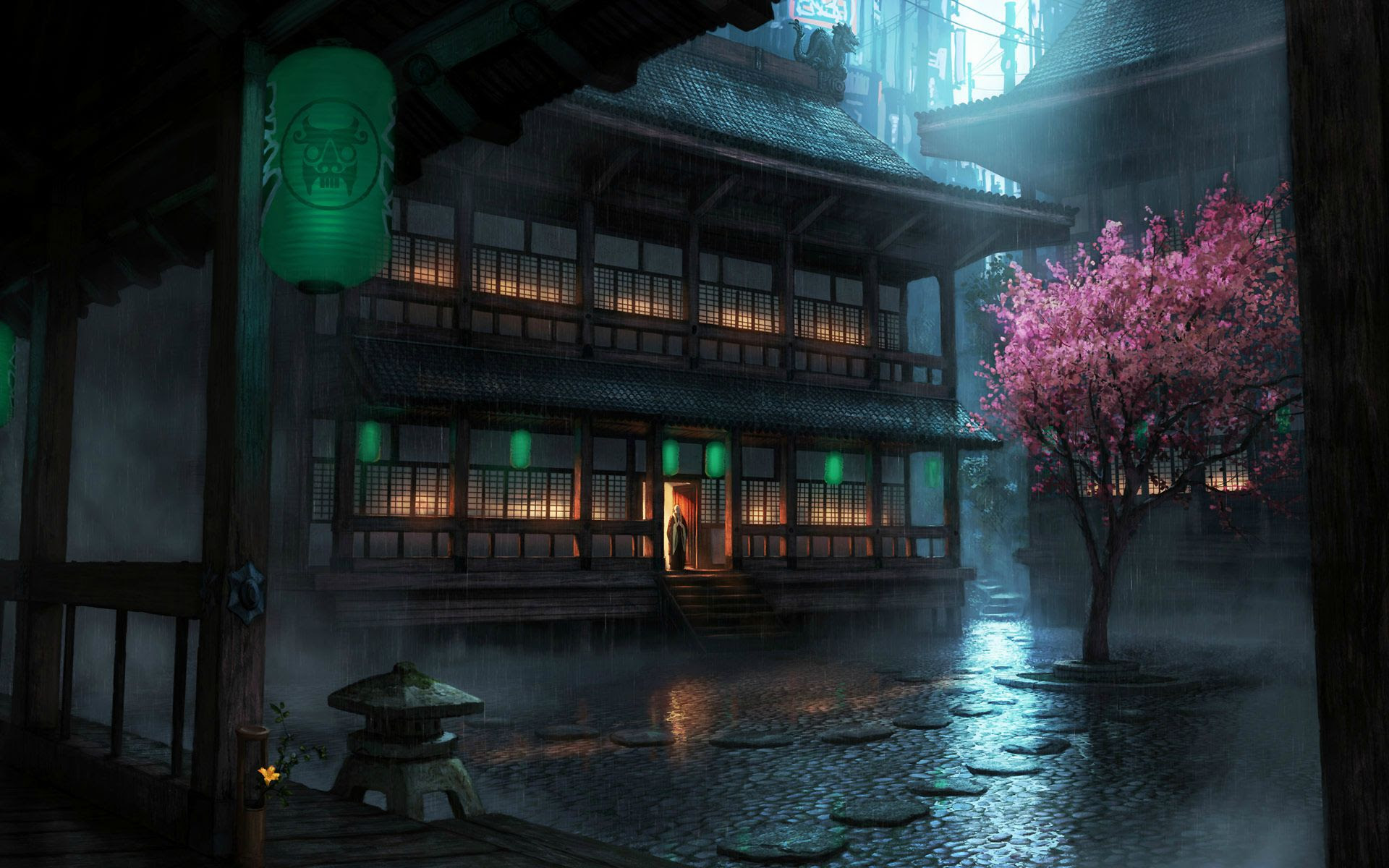 Collection Image Wallpaper Anime Dark City Background