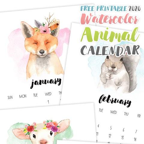 2020 Calendar Free Printable Monthly