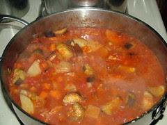 Veggies Before the Chicken Biryani