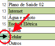 seta do mouse no canto da planilha