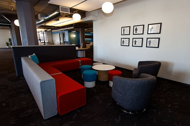 Colorful meeting area