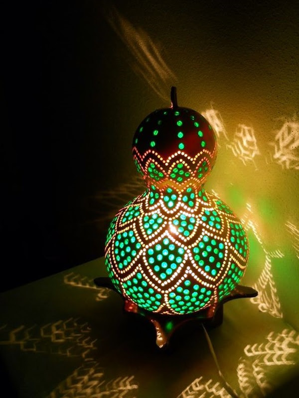 Amazing Art Inspired Gourd Lamps (38)
