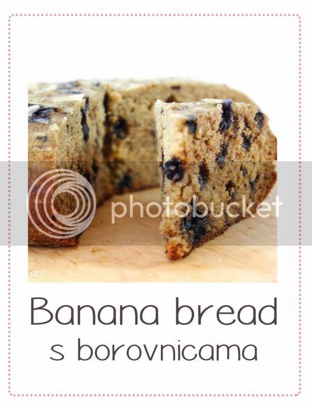 banana bread s borovnicama