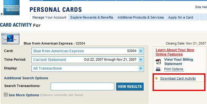 How to download American Express Online Statements - MTHWiki - MTH