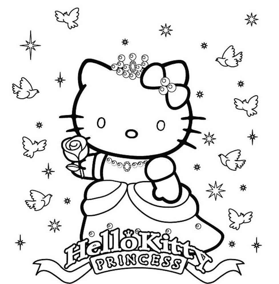 Coloriage Hello Kitty A Imprimer Princesse Ancenscp