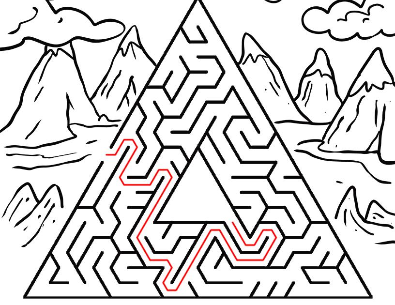 kinder malvorlagen labyrinth  malbild