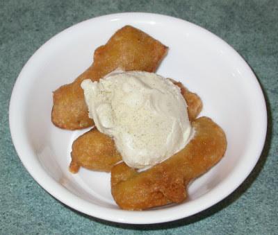 Banana Pakoras with Ice Cream
