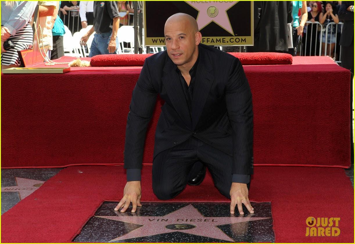 Vin Diesel Hollywood Walk Of Fame With His Leading Ladies