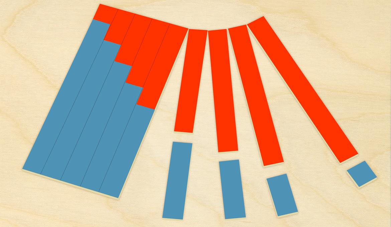 Tables à Bandes Pour Laddition De Montessori Modèle En