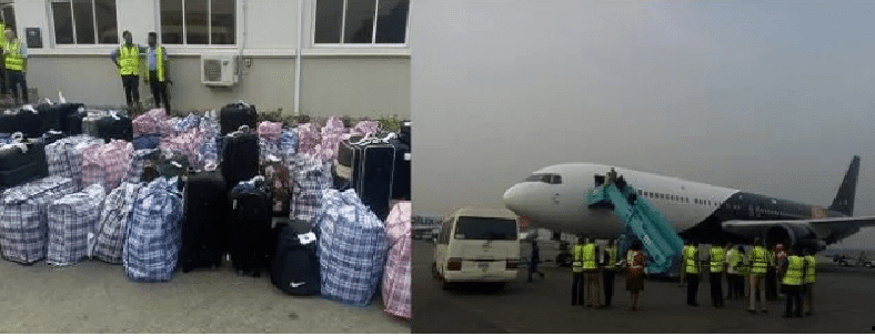 Image result for Nigerians Deported From UK at the MMIA Lagos Today (Photos)