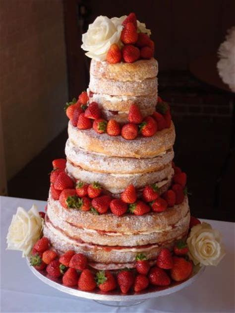 naked Wedding Cakes   Rustic un iced Victoria Sponge