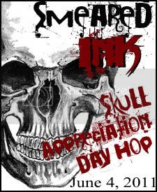 Smeared Ink Skull Blog Hop