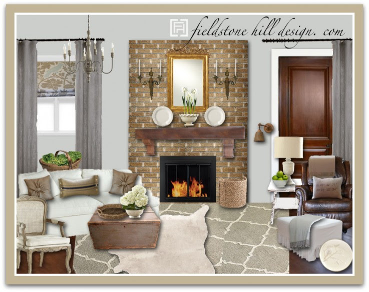Design Board A Living Room Wrapped In Whites And Grays Fieldstone Hill Design