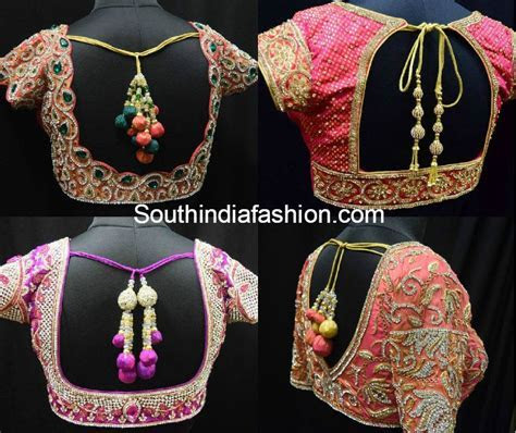 Gorgeous Designer Blouses for Wedding Silk Sarees ?South