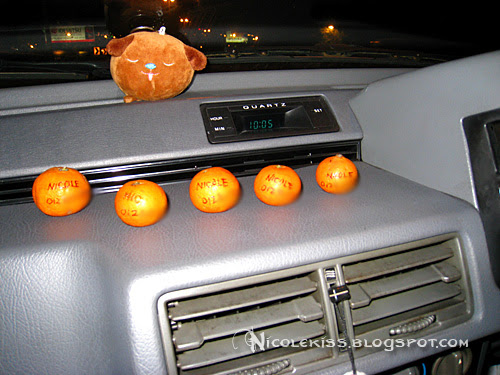 5 mini oranges