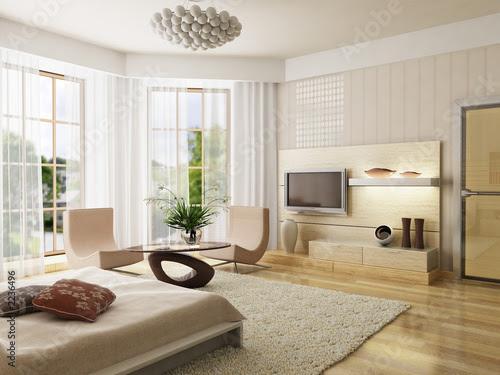 Photo: bedroom interior rendering © auris #2236496