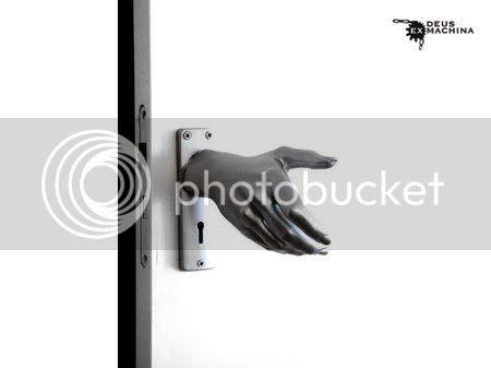 weird furniture design hand-le doorknob
