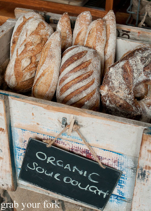 organic sourdough bread at the grounds of alexandria markets