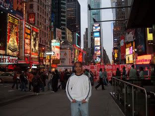 Me posing in front of Times Square.
