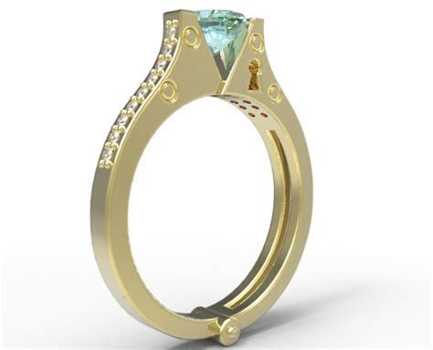 Heart Handcuff Engagement Ring   Vidar Jewelry   Unique