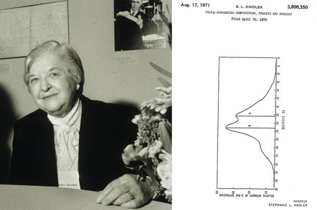 Os polímeros ultrarresistentes criados por Stephanie Kwolek permitiram a criação dos coletes à prova de balas modernos (Foto: Chemical Heritage Foundation. Google Patents)