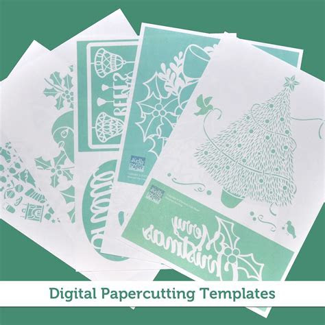 Digital Christmas Papercutting Template bundle ? 10
